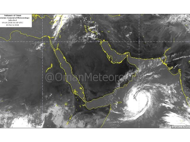 """العاصفة المدارية """" لبان """" فى بحر العرب"""